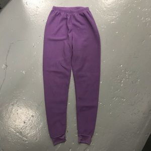Polar skin purple long john fleece layering pants